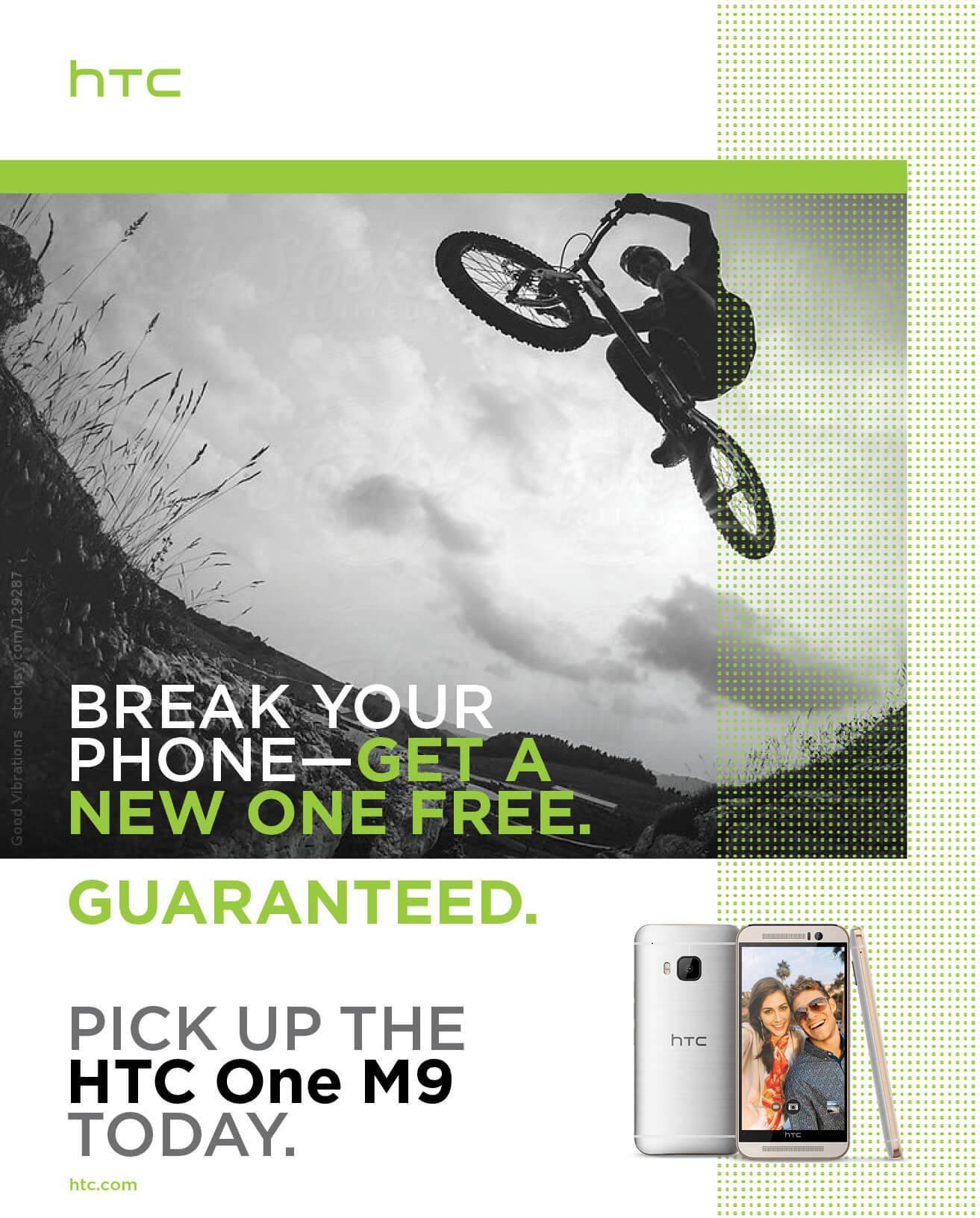 Promo Retail Copy for HTC, implementation example