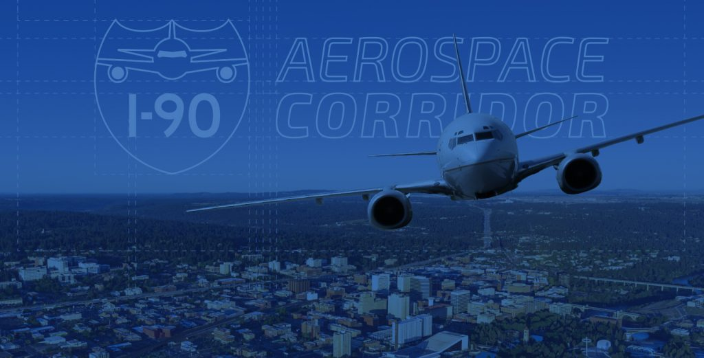 I-90 Aerospace Corridor Logo and Hero
