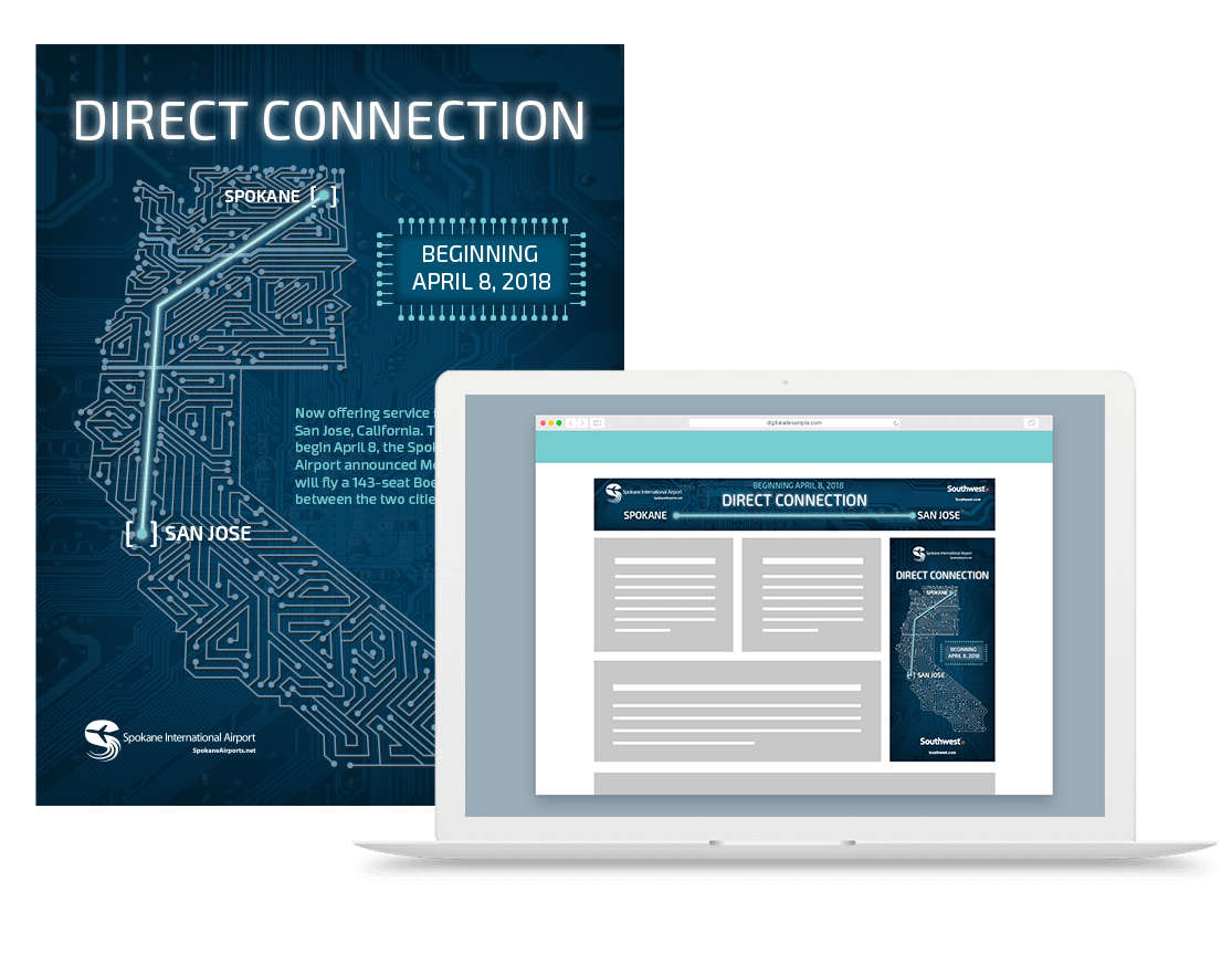Spokane International Airport Direct Connection Concept example