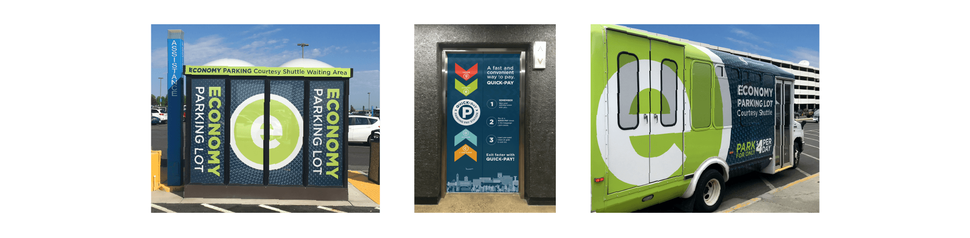 airport parking branding inspiration for Spokane international airport