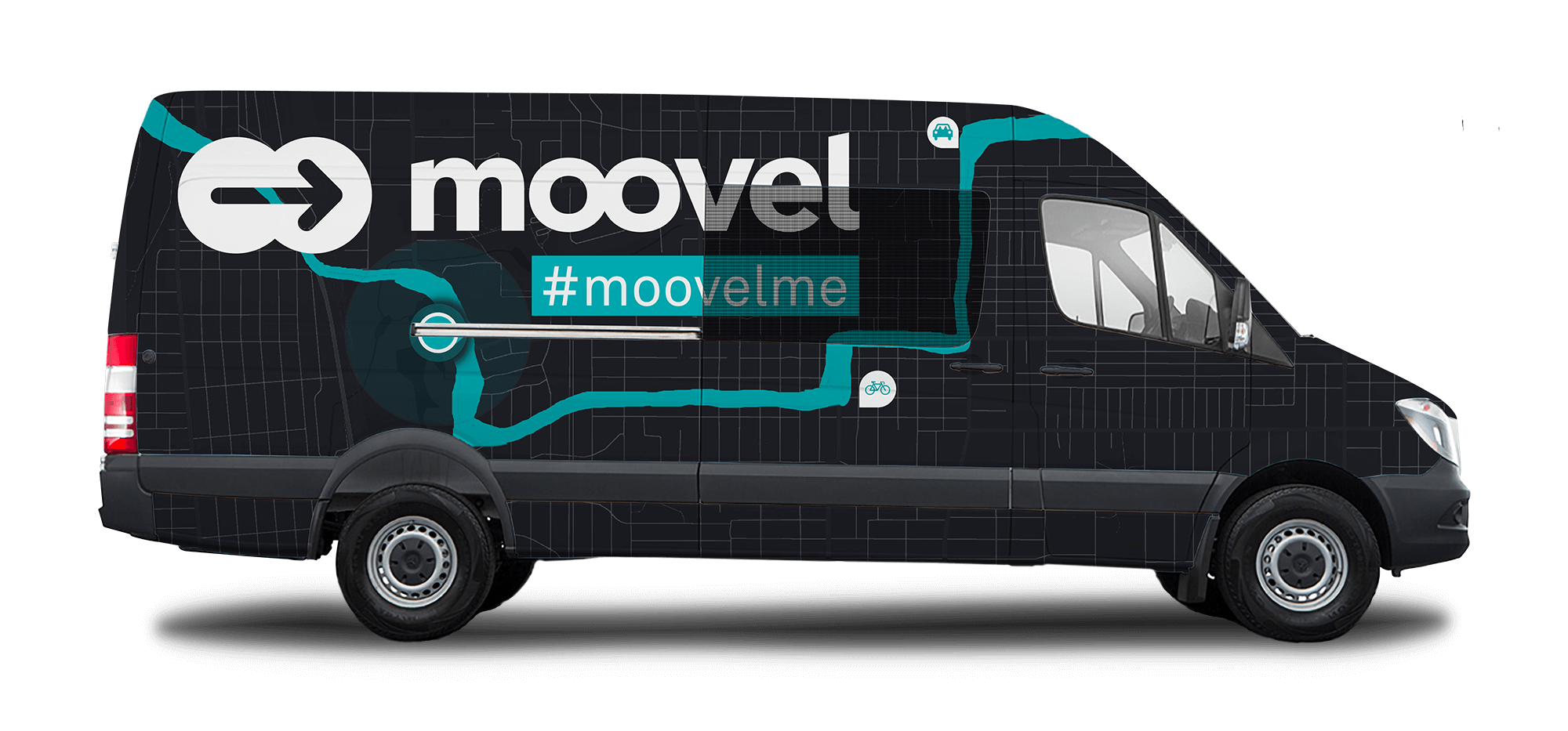 "Moovel SXSW ""Future of Urban Mobility"" Event, van wrap example"