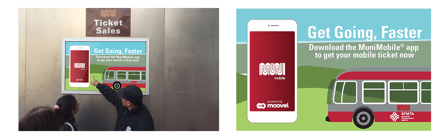 Moovel x Municipal Transit Agency (SFMTA) Partner Marketing example