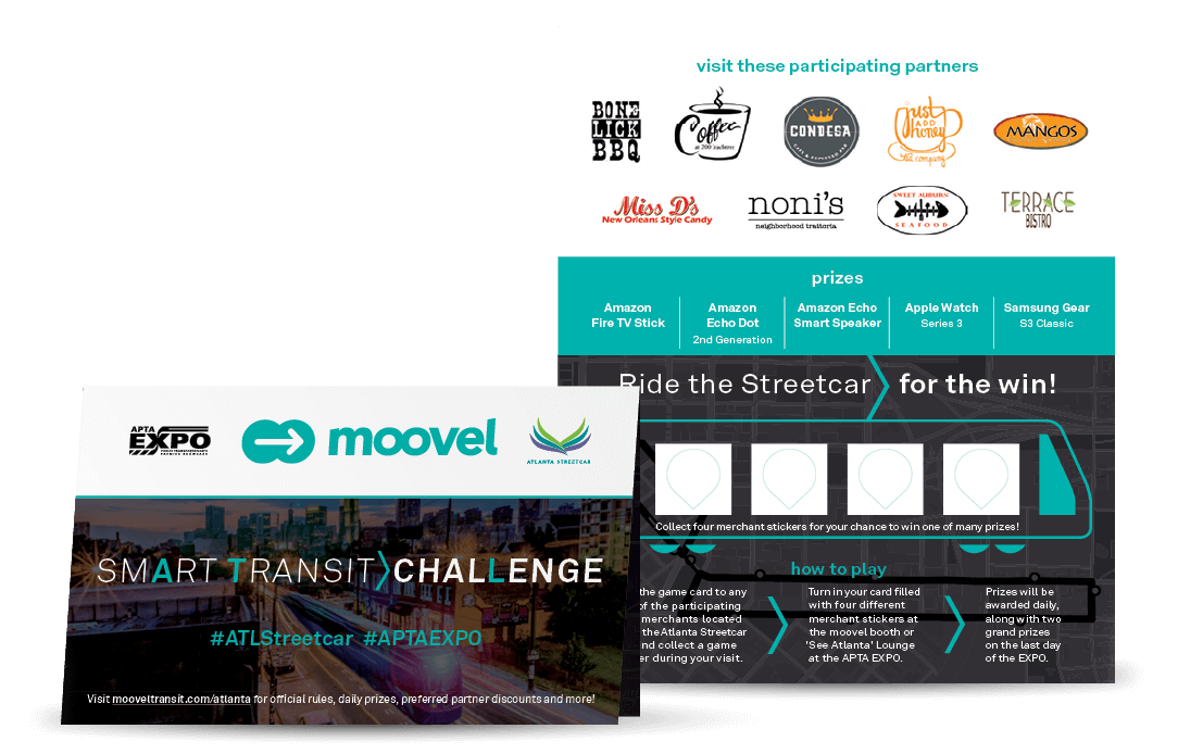 Moovel x APTA Conference Partner Marketing example