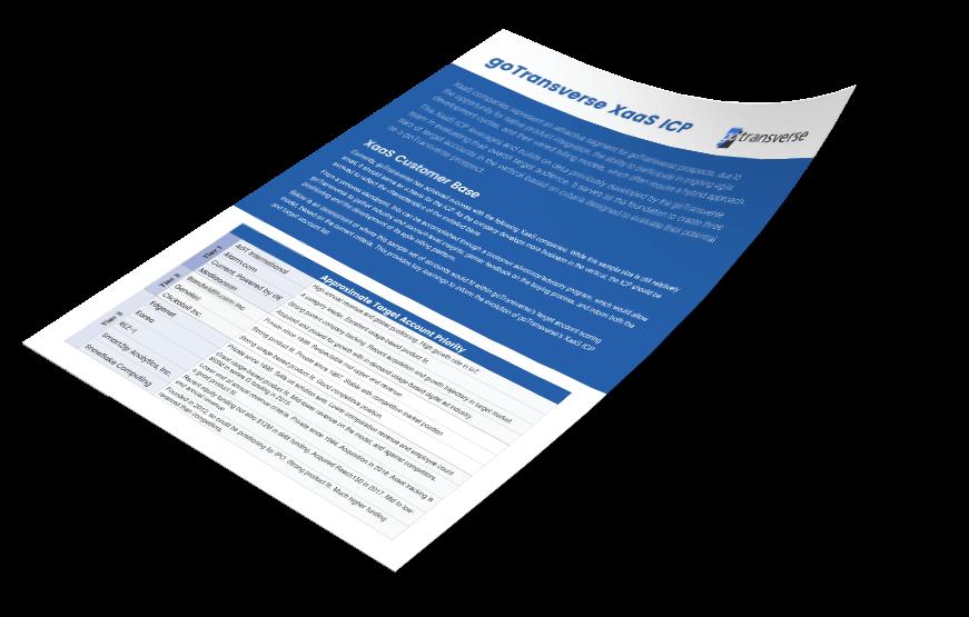 goTransverse XaaS ICP Sheet Design Mockup