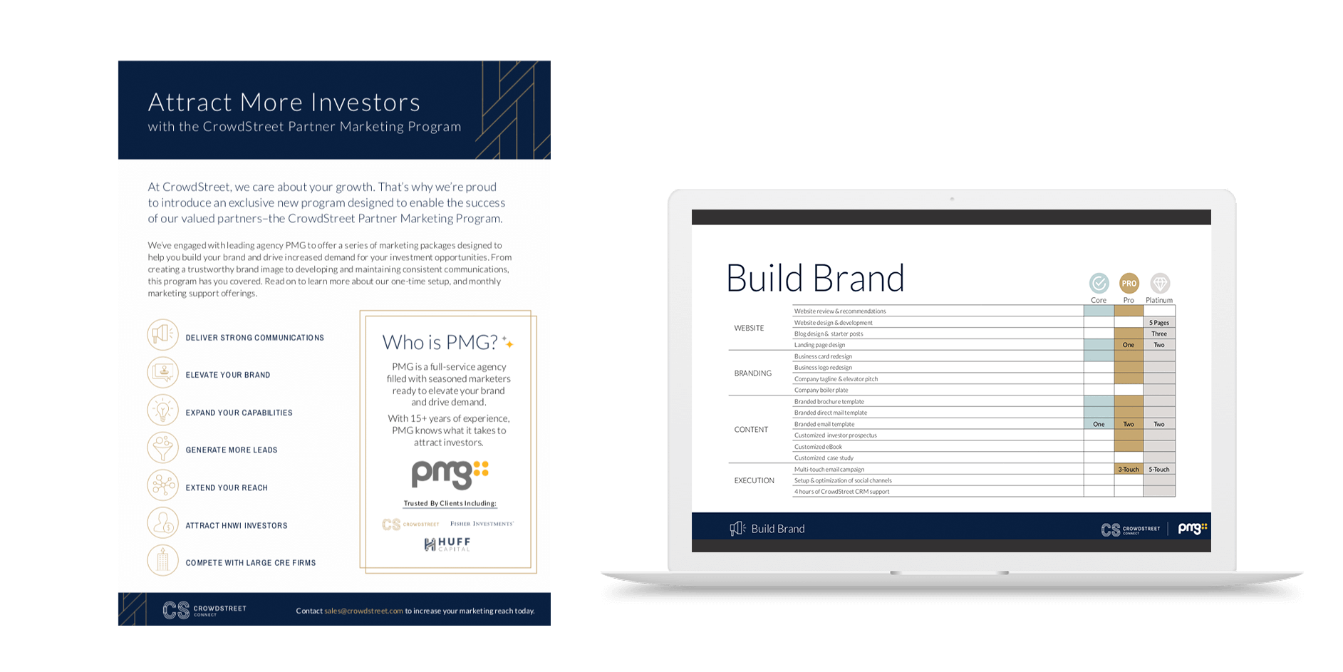 Crowdstreet partner program framework and one sheet example with cost breakdowns