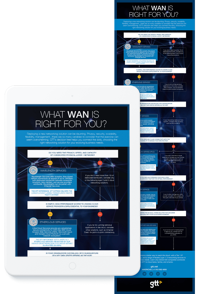 """""""What wan is right for you?"""" infographic for GTT highlight"""