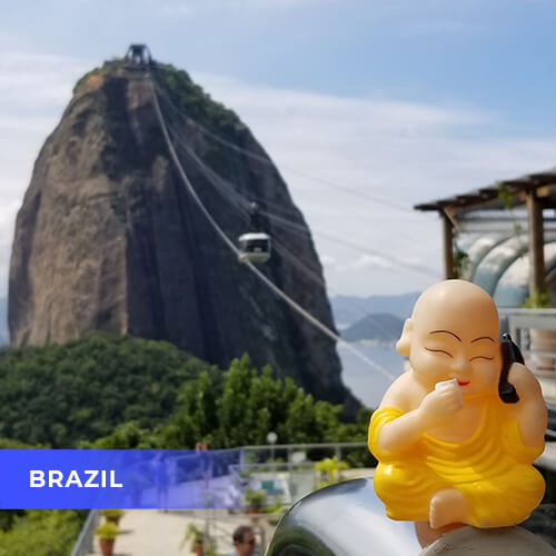 Buddha travels to Brazil