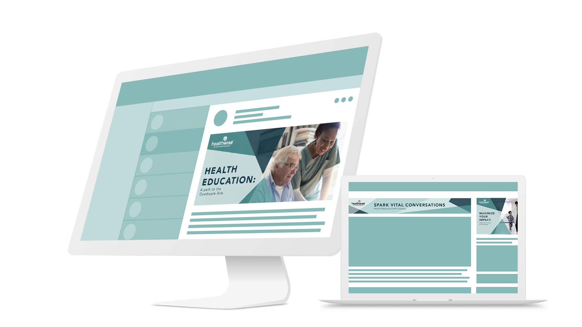 Healthwise Social Mockups by PMG