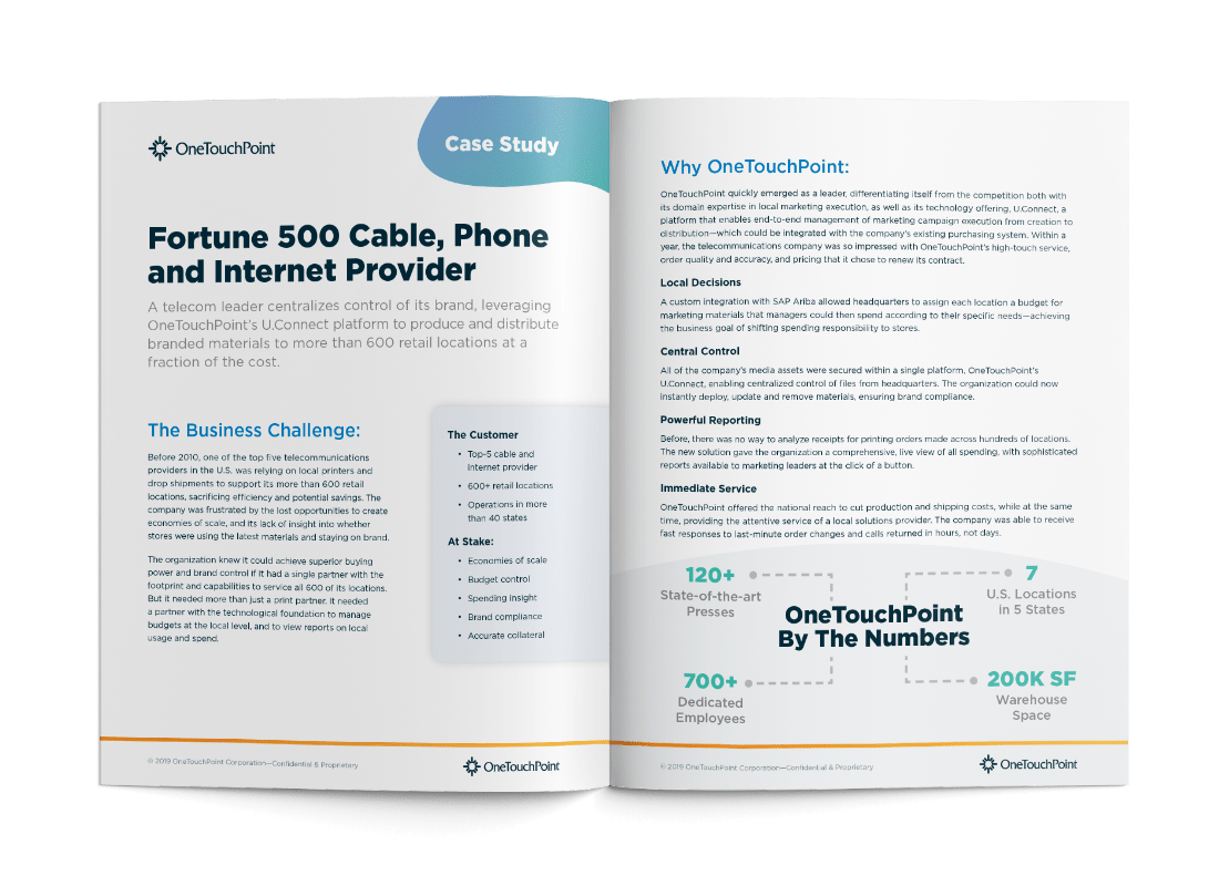 OneTouchPoint case study by PMG