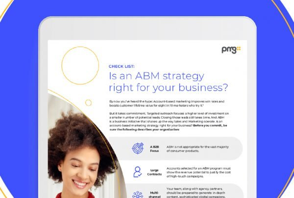 Thumbnail of infographic to check if ABM is right for your business created by PMG