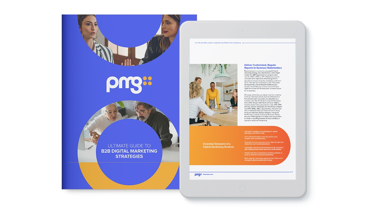 Graphical showcase of PMG's Digital Marketing Guide