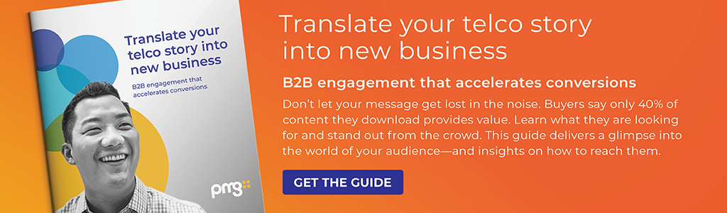 Translate your telco story into new business guide by PMG